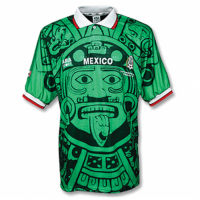 1998 Mexico Home Classic Retro Green Soccer Jersey Shirt