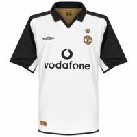 Manchester United Soccer Jersey Away Centenary Retro Replica 2001/02