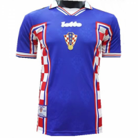 1998 Croatia Away Blue Classic Retro Jersey Shirt