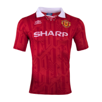 Manchester United Soccer Jersey Home Retro Replica 1992/94