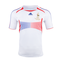 France Retro Soccer Jersey Away Replica World Cup 2006