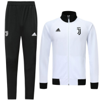 19/20 Juventus White High Neck Collar Player Version Training Kit(Jacket+Trouser)