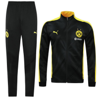 19/20 Borussia Dortmund Yellow High Neck Collar Player Version Training Kit(Jacket+Trouser)