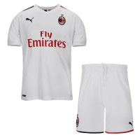 19/20 AC Milan Away White Soccer Jerseys Kit(Shirt+Short)