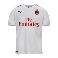 19/20 AC Milan Away White Soccer Jerseys Shirt