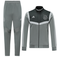 19/20 Ajax Gray High Neck Collar Training Kit(Jacket+Trouser)