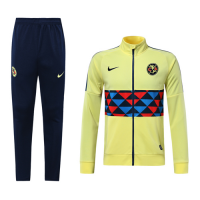 19/20 Club America Yellow High Neck Collar Training Kit(Jacket+Trouser)
