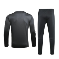 19/20 PSG Black O-Neck Sweat Shirt Kit(Top+Trouser)