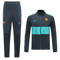 19/20 Barcelona Gray&Green High Neck Collar Training Kit(Jacket+Trouser)