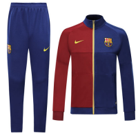19/20 Barcelona Red&Blue High Neck Collar Training Kit(Jacket+Trouser)