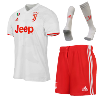 19/20 Juventus Away White Soccer Jerseys Whole Kit(Shirt+Short+Socks)