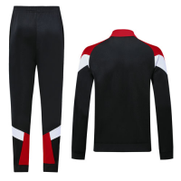 19/20 AC Milan Black&Red&White High Neck Collar Training Kit(Jacket+Trouser)