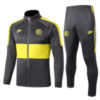 19/20 Inter Milan Dark Gray&Yellow Training Kit(Jacket+Trouser)