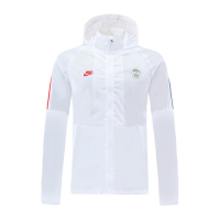 20/21 PSG White Windbreaker Hoodie Jacket
