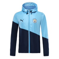 19/20 Manchester City Light Blue/Navy Hoody Jacket