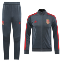 20/21 Arsenal Gray High Neck Collar Training Kit(Jacket+Trouser)