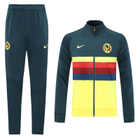 20/21 Club America Yellow High Neck Collar Training Kit(Jacket+Trouser)