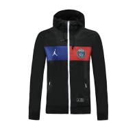 20/21 PSG Black Windbreaker Hoodie Jacket