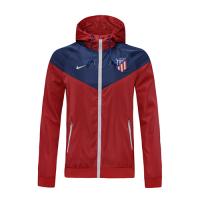 20/21 Atletico Madrid Red&Blue Windbreaker Hoodie Jacket