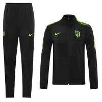 20/21 Atletico Madrid Black Player Version High Neck Collar Training Kit(Jacket+Trouser)
