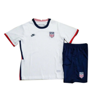 2020 USA Home White Children's Jerseys Kit(Shirt+Short)