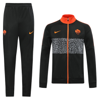 20/21 Roma Black Player Version High Neck Collar Training Kit(Jacket+Trouser)
