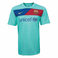 10/11 Barcelona Away Green Retro Soccer Jerseys Shirt