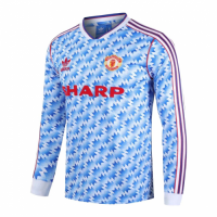 Manchester United Retro Soccer Jersey Away Long Sleeve Replica 1990/92
