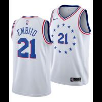 Men's Philadelphia 76ERS Joel Embiid No.21 White Swingman Jersey