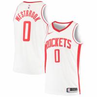 Men's Houston Rockets Russell Westbrook No.0 White 19-20 Swingman Jersey - Association Edition