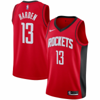 Men's Houston Rockets James Harden No.13 Red 19-20 Swingman Jersey - Icon Edition