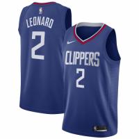 Men's LA Clippers Kawhi Leonard No.2 Blue 19-20 Swingman Jersey - Icon Edition