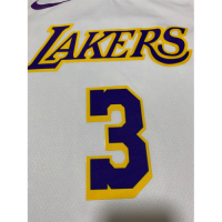 Men's Los Angeles Lakers Anthony Davis No.3 White Swingman Jersey - Association Edition