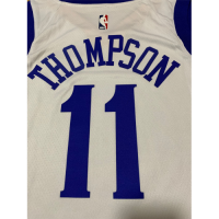 Men's Golden State Warriors Klay Thompson No.11 White 19-20 Swingman Jersey - Association Edition
