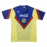 1988 Club America Home Blue&Yellow Retro Jerseys Shirt
