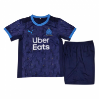 20/21 Marseilles Away Blue Children's Jerseys Kit(Shirt+Short)