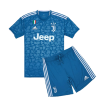 19-20 Juventus Third Away Blue Children's Jerseys Kit(Shirt+Short)