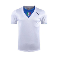 2006 World Cup Champion Italy Away White Retro Soccer Jerseys Shirt