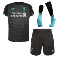 19/20 Liverpool Third Away Black&Green Soccer Jerseys Whole Kit(Shirt+Short+Socks)