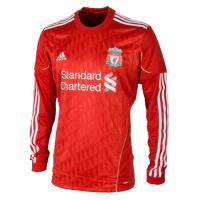 Liverpool Retro Soccer Jersey Home Long Sleeve Replica 2011/12