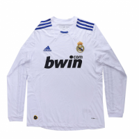 Real Madrid Retro Soccer Jersey Home Long Sleeve Replica 2010/11