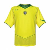 Brazil Retro Soccer Jersey Home Replica 2004