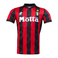 AC Milan Soccer Jersey Home Retro Replica 1992/94