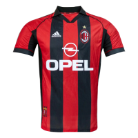 AC Milan Soccer Jersey Home Retro Replica 1998/00