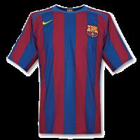 Barcelona Soccer Jersey Home Retro Replica 2005/06
