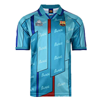 96/97 Barcelona Away Blue Retro Soccer Jerseys Shirt
