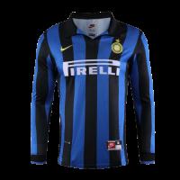 Inter Milan Retro Soccer Jersey Home Long Sleeve Replica 1998/99