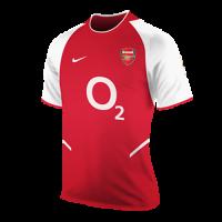 Arsenal Soccer Jersey Home Retro Replica 2002/03