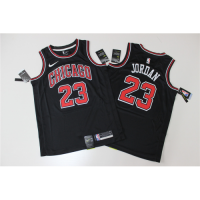 Men's Chicago Bulls Michael Jordan N0.23  Black SwingmanJersey