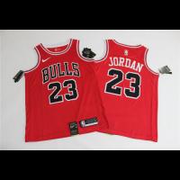 Men's Chicago Bulls Michael Jordan N0.23 Red SwingmanJersey